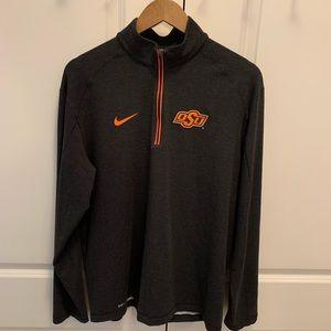 Nike Men's Oklahoma State Dri-Fit Quarter Zip